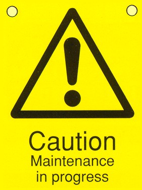 Caution Maintenance In Progress Floor Standing Sign