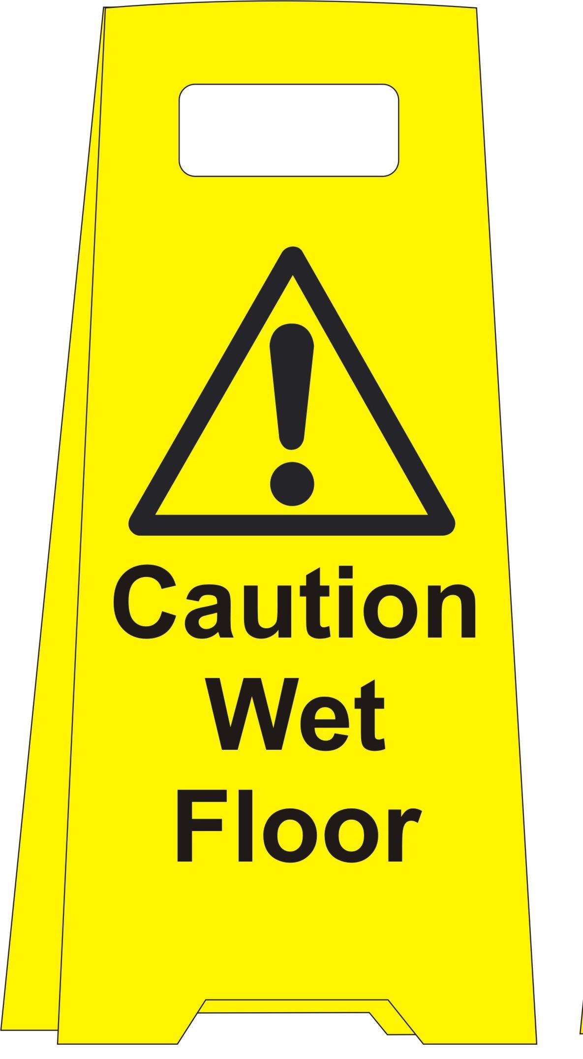 Caution Wet Floor Floor standing sign
