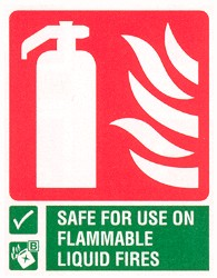 Fire extinguisher for flammable liquids