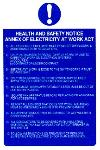 Annex of electricity at work act.