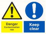 Danger Contamination risk / Keep clear