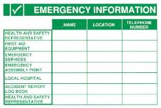 Emergency Information Poster / Board