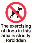 Exercising dogs strictly forbidden