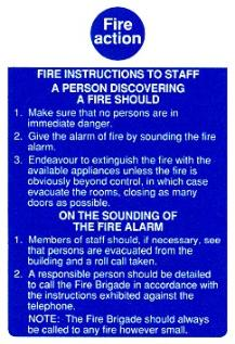 Fire Action / Discovering a fire / Staff