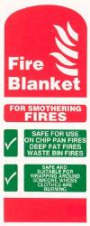 Fire blanket for smothering fires