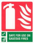 Fire Extinguisher / Safe for use on gaseous fires