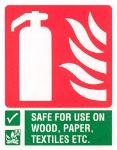 Fire Extinguisher / Safe for use on wood, paper, textiles, etc.
