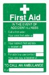 First Aid / In the event of accident..