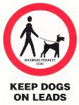 Keep dogs on leads penalty fine