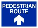 PEDESTRIAN ROUTE  UP