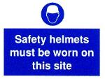 Safety helmets must be worn on this site