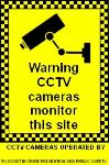 Warning CCTV cameras monitor this site