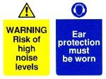 WARNING Risk of high noise / Ear protection must be worn