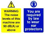 WARNING The noise levels of this machine are 90dB(A) or above