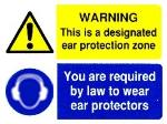 WARNING This is a designated ear protection zone