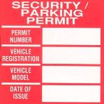 Security Parking Permit